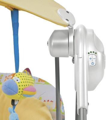 Качели для новорожденных Chicco Polly Swing Gold - механизм качания: панель управления