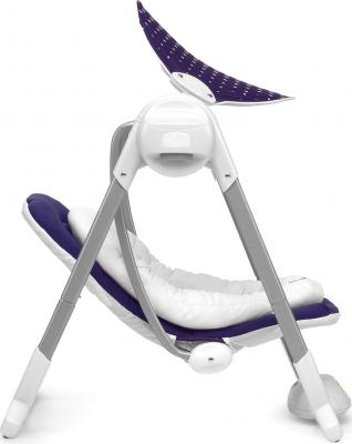 Качели для новорожденных Chicco Polly Swing Purple Rain - вид сбоку