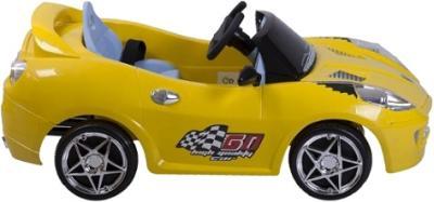 Детский автомобиль KinderKraft ChuChu Ferrari Yellow - вид сбоку