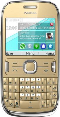 Мобильный телефон Nokia Asha 302 Light Gold - общий вид