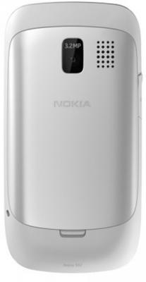 Мобильный телефон Nokia Asha 302 White - задняя панель