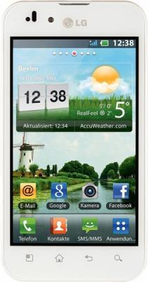 Смартфон LG P970 Optimus Snow White - общий вид
