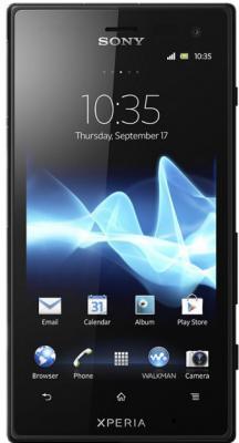Смартфон Sony Xperia Acro S (LT26w) Black - общий вид