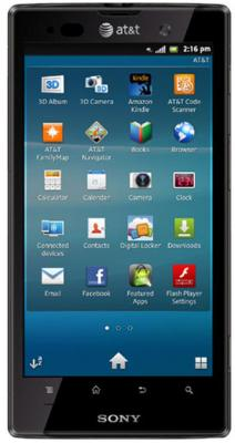 Смартфон Sony Xperia Ion (LT28h) Black - общий вид