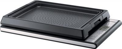 Электрическая настольная плита Oursson IG1200B/BL - плита с насадкой-гриль