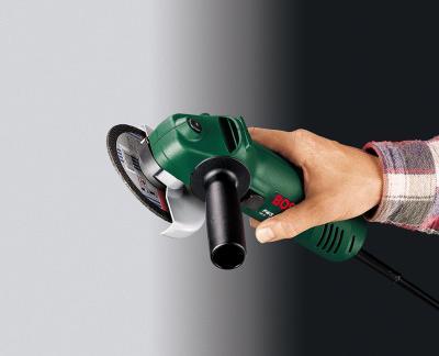 Угловая шлифовальная машина Bosch PWS 10-125 СЕ (0.603.347.220) - в работе