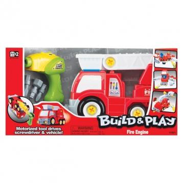 """Набор для сборки Keenway Пожарная машина """"Build&Play"""" 11921 - в упаковке"""