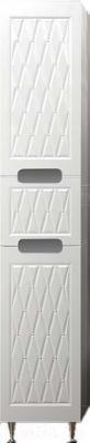 Шкаф-пенал для ванной Ванланд Венеция 1 (правый, белый)