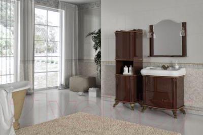 Зеркало для ванной Аква Родос Арт Деко 80 (орех итальянский)