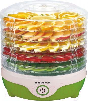 Сушка для овощей и фруктов Polaris PFD 0305 (бело-зеленый)