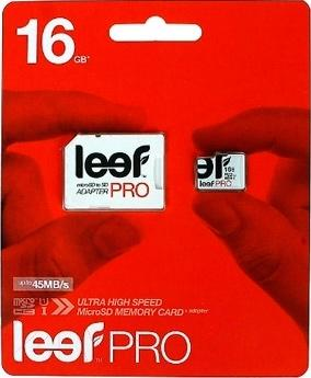 Карта памяти Leef PRO microSDHC UHS-I (Class 10) 16GB + адаптер (LFMSDPRO-01610R)