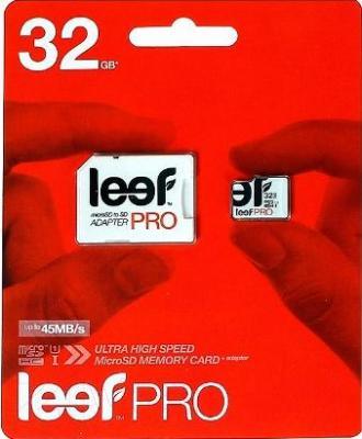 Карта памяти Leef PRO microSDHC UHS-I (Class 10) 32GB + адаптер (LFMSDPRO-03210R)