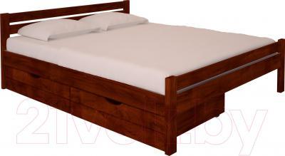Полуторная кровать НЗК Vesta 140х200 (ольха 109/5) - ящики и матрас в комплект не входят