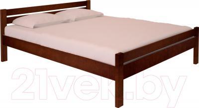Полуторная кровать НЗК Vesta 140х200 (ольха 119/5)