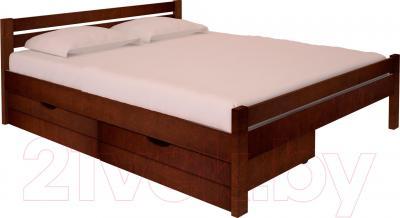 Полуторная кровать НЗК Vesta 140х200 (ольха 119/5) - ящики и матрас в комплект не входят
