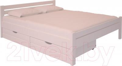 Двуспальная кровать НЗК Vesta 180х200 (ольха 003) - ящики для белья и матрас в комплект не входят