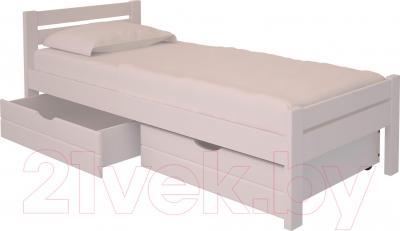Односпальная кровать НЗК Vesta 90х200 (ольха 003) - ящики и матрас в комплект не входят