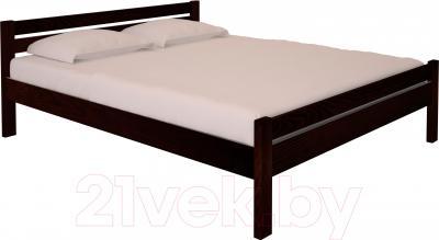 Двуспальная кровать НЗК Vesta 180х200 (ясень 119/5)