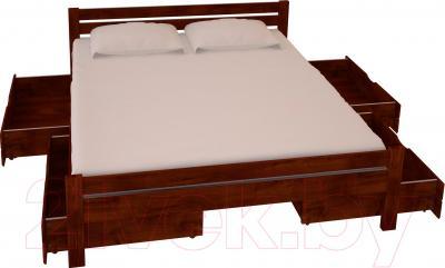 Двуспальная кровать НЗК Vesta 180х200 (ольха 109/5) - ящики и матрас в комплект не входят
