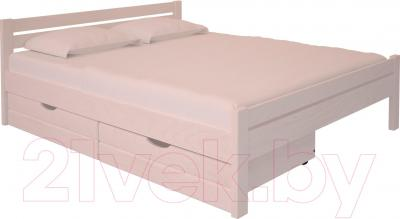 Двуспальная кровать НЗК Vesta 160х200 (ясень 003) - ящики и матрас в комплект не входят