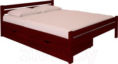 Двуспальная кровать НЗК Vesta 160х200 (ясень 109/5) - ящики и матрас в комплект не входят
