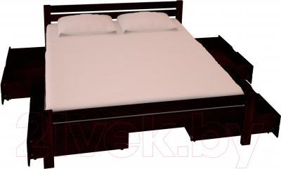 Двуспальная кровать НЗК Vesta 160х200 (ясень 119/5) - ящики и матрас в комплект не входят