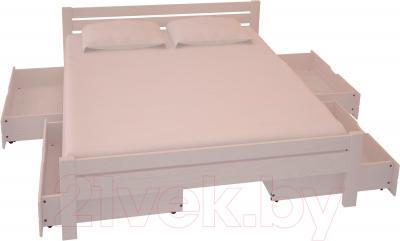 Полуторная кровать НЗК Vesta 140x200 (ясень 003) - ящики и матрас в комплект не входят