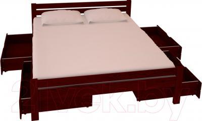 Полуторная кровать НЗК Vesta 140х200 (ясень 109/5) - ящики и матрас в комплект не входят