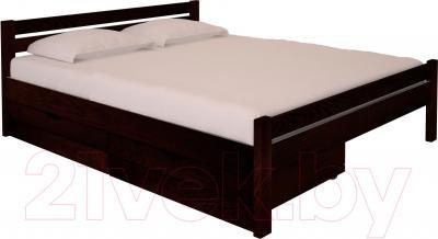 Полуторная кровать НЗК Vesta 140х200 (ясень 119/5) - ящики и матрас в комплект не входят