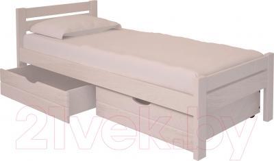 Односпальная кровать НЗК Vesta 90х200 (ясень 003) - ящики и матрас в комплект не входят
