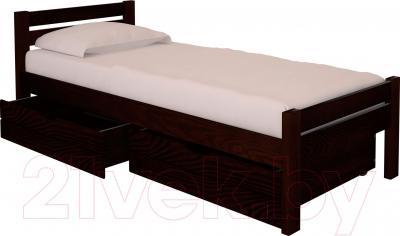 Односпальная кровать НЗК Vesta 80х200 (ясень 119/5) - ящики и матрас в комплект не входят