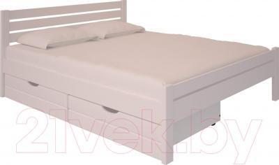 Двуспальная кровать НЗК Vesta Lux 160х200 (ольха 003) - ящик и матрас в комплект не входят