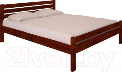 Двуспальная кровать НЗК Vesta Lux 160x200 (ольха 109/5)