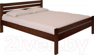 Двуспальная кровать НЗК Vesta Lux 160х200 (ольха 119/5)