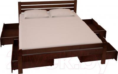 Двуспальная кровать НЗК Vesta Lux 160х200 (ольха 119/5) - ящики и матрас в комплект не входят