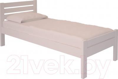 Односпальная кровать НЗК Vesta Lux 90х200 (ольха 003)
