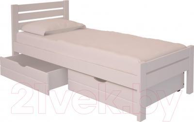 Односпальная кровать НЗК Vesta Lux 90х200 (ольха 003) - ящики и матрас в комплект не входят
