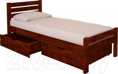 Односпальная кровать НЗК Vesta Lux 90x200 (ольха 109/5) - ящики и матрас в комплект не входят