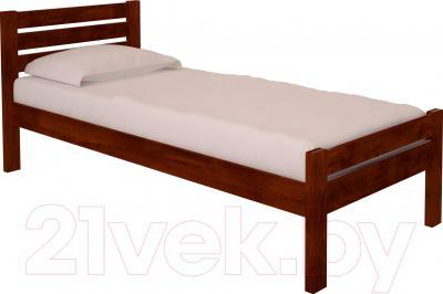Односпальная кровать НЗК Vesta Lux 80x200 (ольха 109/5)
