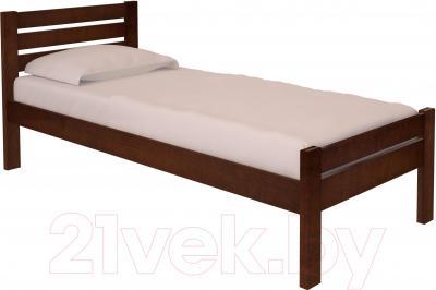 Односпальная кровать НЗК Vesta Lux 80х200 (ольха 119/5)