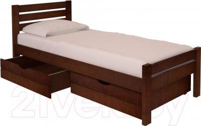 Односпальная кровать НЗК Vesta Lux 80x200 (ольха 119/5) - ящики и матрас в комплект не входят