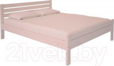 Двуспальная кровать НЗК Vesta Lux 160х200 (ясень 003)