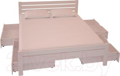 Двуспальная кровать НЗК Vesta Lux 160х200 (ясень 003) - ящики и матрас в комплект не входят