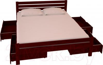 Двуспальная кровать НЗК Vesta Lux 160х200 (ясень 109/5) - ящики и матрас в комплект не входят