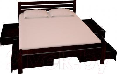 Двуспальная кровать НЗК Vesta Lux 160x200 (ясень 119/5) - ящики и матрас в комплект не входят