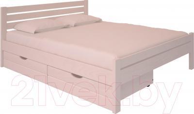 Полуторная кровать НЗК Vesta Lux 140х200 (ясень 003) - ящики и матрас в комплект не входят