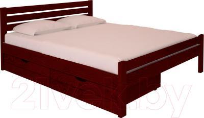 Полуторная кровать НЗК Vesta Lux 140х200 (ясень 109/5) - ящики и матрас в комплект не входят