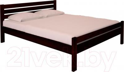 Полуторная кровать НЗК Vesta Lux 140x200 (ясень 119/5)