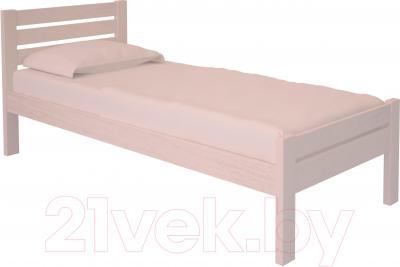 Односпальная кровать НЗК Vesta Lux 90х200 (ясень 003)