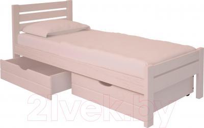 Односпальная кровать НЗК Vesta Lux 90х200 (ясень 003) - ящики и матрас в комплект не входят